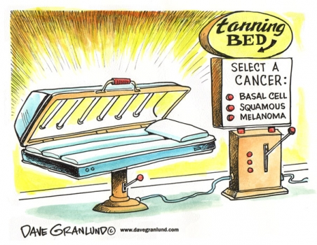 Tanning beds cause cancer