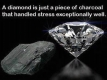 A diamond once was coal under intense pressure