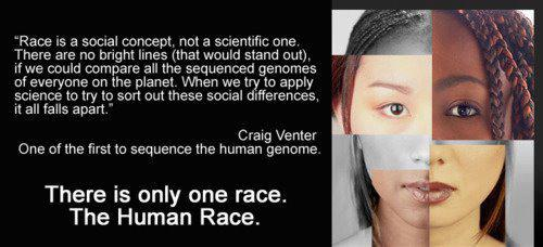 Racism--there is only one race: The Human Race