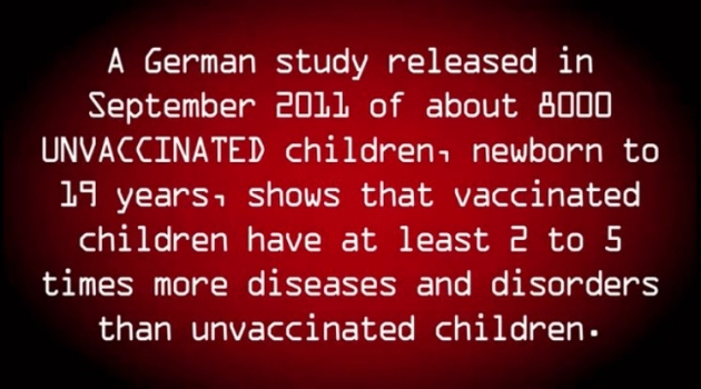 Vaccinated children get sick more